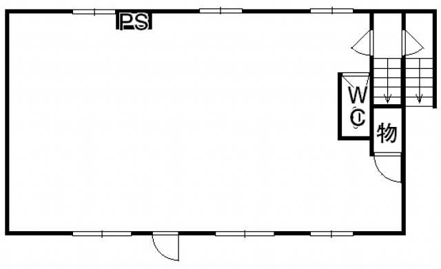 高松市西の丸町 讃岐一代商事ビル 2階事務所の間取り