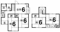 松山市空港通2-16-3 空港通一戸建 の外観