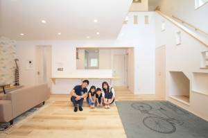 ちょうどよくて、快適 キューブ型の二世帯住宅 画像6枚目