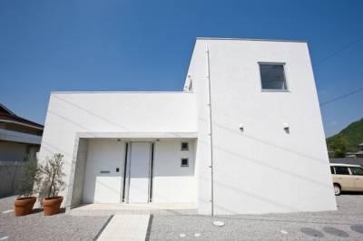 コンクリートと自然素材が美しく調和する空間美。