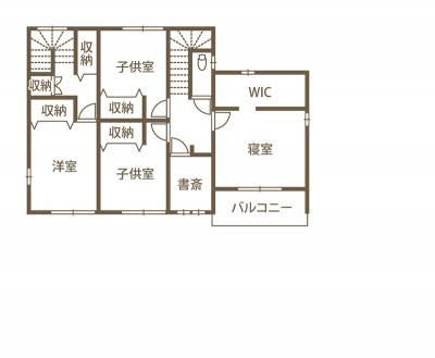 距離感は近く、プライバシーに配慮したみんなが心地いい、二世帯住宅 2F間取り図