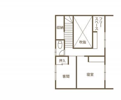 デザインも心地よさにもこだわって。 「美しい暮らし」を叶えた高性能住宅。 2F間取り図