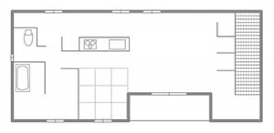 天然木の和風建築で、快適! 2階リビングの家。 2F間取り図