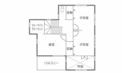 機能的で遊びゴコロ満載!用途多彩な土間収納のある家 2F間取り図