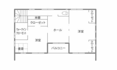 家族の心地よさを追求した 個性あふれる自由設計の家 2F間取り図
