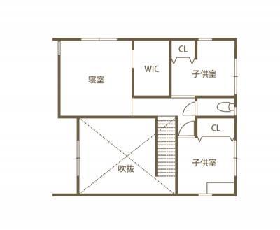 アイアンと木材を多用した インダストリアル風のSO-KO HOUSE 2F間取り図
