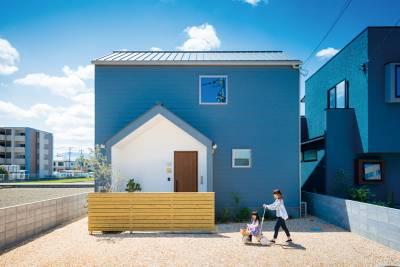 ムーミンと暮らす三角屋根の青い家